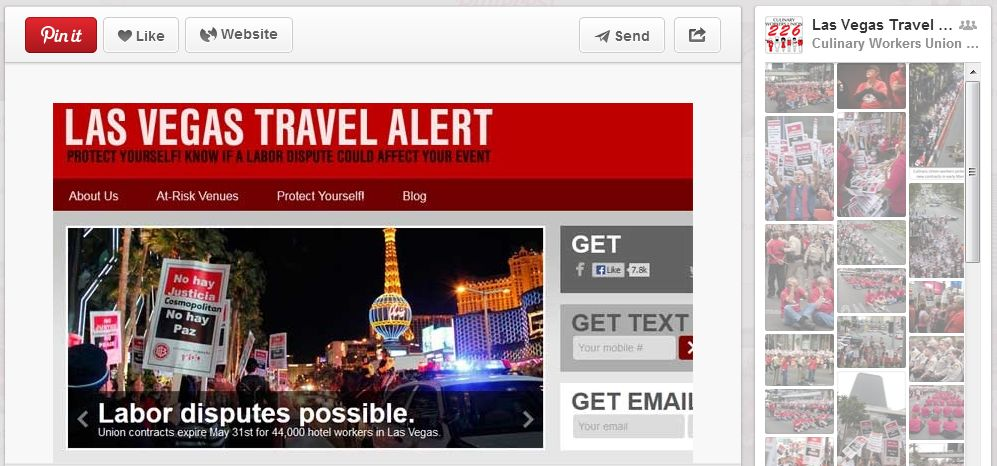 Pinterest Board: Las Vegas Travel Alert